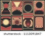 black red white background set. ... | Shutterstock .eps vector #1113091847