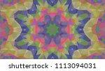 geometric design  mosaic of a... | Shutterstock .eps vector #1113094031