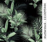 vector seamless tropical... | Shutterstock .eps vector #1113095444