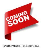 red vector banner coming soon | Shutterstock .eps vector #1113098561