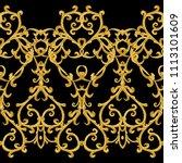 seamless pattern. golden... | Shutterstock . vector #1113101609