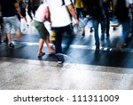 busy city people walking in... | Shutterstock . vector #111311009