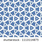 seamless pattern with symmetric ... | Shutterstock .eps vector #1113114875