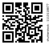 big informational qr code for... | Shutterstock .eps vector #1113118877
