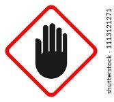 access denied rhombus sign.... | Shutterstock .eps vector #1113121271