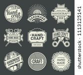 logotypes hand craft vintage.... | Shutterstock .eps vector #1113125141