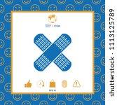 cross adhesive bandage  medical ... | Shutterstock .eps vector #1113125789