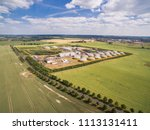 aerial view of a big biogas... | Shutterstock . vector #1113131411