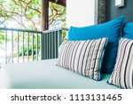 comfortable pillow on sofa... | Shutterstock . vector #1113131465