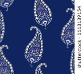 floral indian paisley pattern... | Shutterstock .eps vector #1113139154