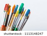brushes  paints and accessories ... | Shutterstock . vector #1113148247