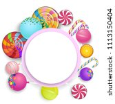 white round background with... | Shutterstock .eps vector #1113150404