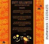 halloween vector card  or... | Shutterstock .eps vector #111316151