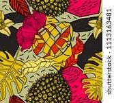 bright exotic pattern design ... | Shutterstock .eps vector #1113163481