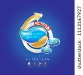 kids omega calcium and vitamin  ...   Shutterstock .eps vector #1113167927