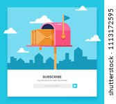email subscribe  online... | Shutterstock . vector #1113172595