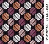 ethnic boho seamless pattern.... | Shutterstock .eps vector #1113181565