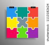 poster banner. nine colour... | Shutterstock .eps vector #1113182624