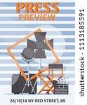 vector vertical poster template ... | Shutterstock .eps vector #1113185591