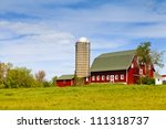 American Farm With Blue Sky
