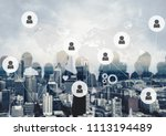 business and technology concept | Shutterstock . vector #1113194489
