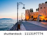 pigeon island and castle night... | Shutterstock . vector #1113197774