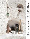 tunisia  matmata. the simple... | Shutterstock . vector #1113198875