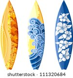 Surfboards Isolated On White....