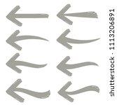 arrow icon set on white... | Shutterstock .eps vector #1113206891