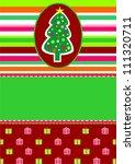 christmas tree | Shutterstock .eps vector #111320711