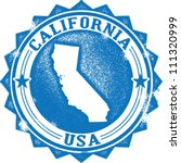 Vintage California State USA Stamp or Seal - stock vector