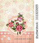 damask invitation vintage card... | Shutterstock .eps vector #111322055
