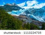 perito moreno glacier at sunny... | Shutterstock . vector #1113224735