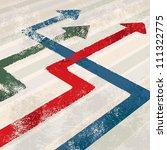 eroded arrows vector | Shutterstock .eps vector #111322775