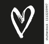 vector brush painted heart.  | Shutterstock .eps vector #1113235997