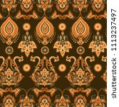 damask style seamless floral... | Shutterstock . vector #1113237497