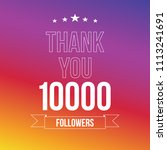 10000 followers vector... | Shutterstock .eps vector #1113241691