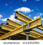 monolithic frame construction... | Shutterstock . vector #1113242981