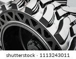 tires are big truck  tractor or ... | Shutterstock . vector #1113243011