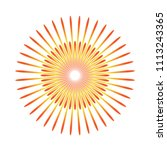 sunburst emblem isolated icon... | Shutterstock .eps vector #1113243365