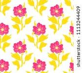 vector seamless pattern  simple ... | Shutterstock .eps vector #1113244409
