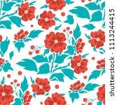 vector seamless pattern  simple ... | Shutterstock .eps vector #1113244415