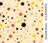 vector seamless pattern. simple ... | Shutterstock .eps vector #1113244931