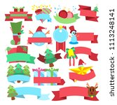 christmas winter set of...   Shutterstock .eps vector #1113248141