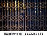 door steel metal old vintage... | Shutterstock . vector #1113263651