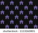 endless repeating lilac... | Shutterstock . vector #1113263801