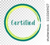 teal certified stamp products... | Shutterstock .eps vector #1113265427