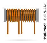 inductor with two windings | Shutterstock .eps vector #1113268661