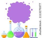 vector illustration  chemistry... | Shutterstock .eps vector #1113270377