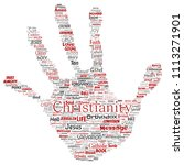 vector conceptual christianity  ... | Shutterstock .eps vector #1113271901